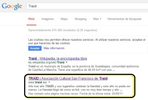 traid en la web