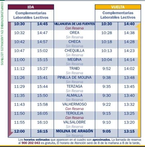 rutas y horarios buses